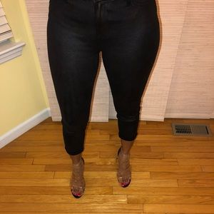 Pants - Leather Look Jeans